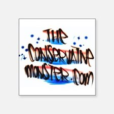 "Cute The conservative monster Square Sticker 3"" x 3"""