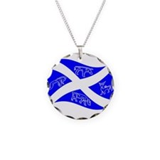 Waving Pictish Scotland Flag #1 Necklace