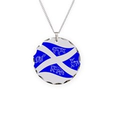 Waving Pictish Scotland Flag #2 Necklace