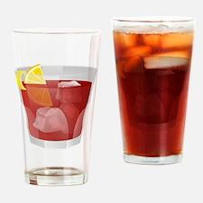 Funny Americano Drinking Glass