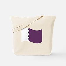 Waving Qatar Flag Tote Bag