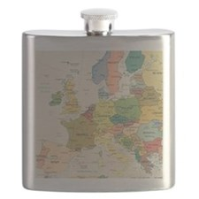 Europe Map Flask