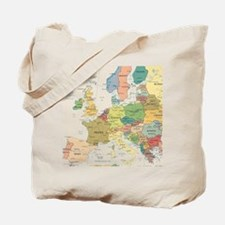 Europe Map Tote Bag