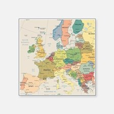 "Europe Map Square Sticker 3"" x 3"""