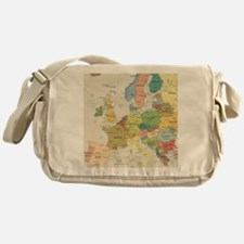 Europe Map Messenger Bag