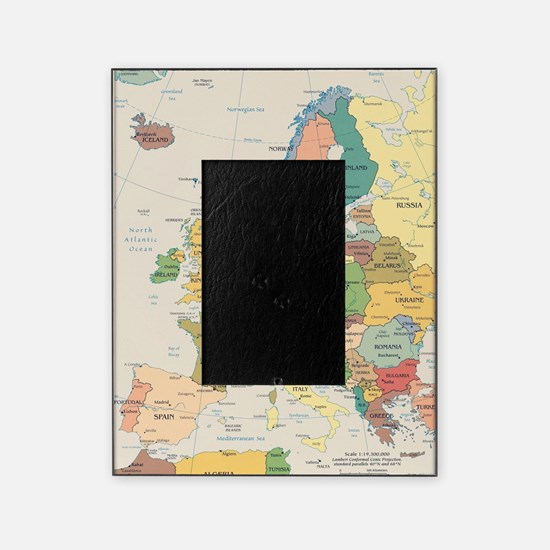 Europe Map Picture Frame