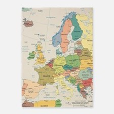 Europe Map 5'x7'Area Rug