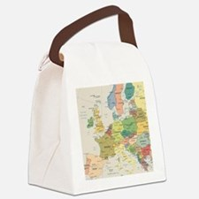 Europe Map Canvas Lunch Bag