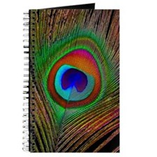 Bright Peacock Feather Journal