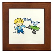 Think Birdie Framed Tile