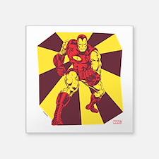 "Iron Man Rays Square Sticker 3"" x 3"""