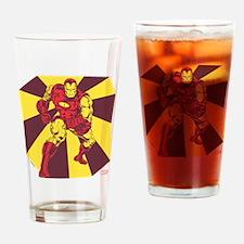 Iron Man Rays Drinking Glass