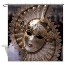 Venetian carnival mask Shower Curtain
