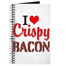 I Love Crispy Bacon Journal