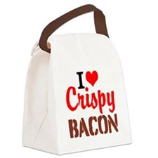 I Love Crispy Bacon Canvas Lunch Bag