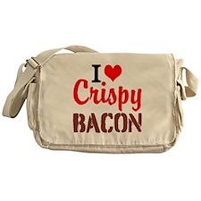I Love Crispy Bacon Messenger Bag