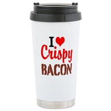 I Love Crispy Bacon Travel Mug
