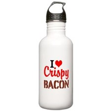 I Love Crispy Bacon Water Bottle