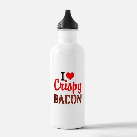 I Love Crispy Bacon Water Bottle