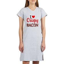 I Love Crispy Bacon Women's Nightshirt