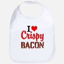 I Love Crispy Bacon Bib