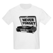 Never Forget Record Player Turntable LP T-Shirt