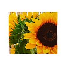 Sunflower III Throw Blanket