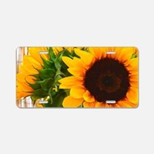 Sunflower III Aluminum License Plate