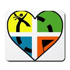 I Love Geocaching Geocache Heart Mousepad