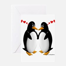 Funny Tux penguin Greeting Card
