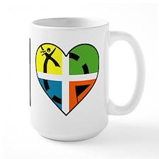 I Love Geocaching Geocache Heart Mugs