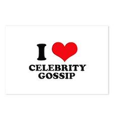 I Love (Heart) Celebrity Goss Postcards (Package o
