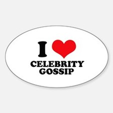 I Love (Heart) Celebrity Goss Oval Decal
