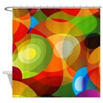 Retro 60s Abstract Shower Curtain