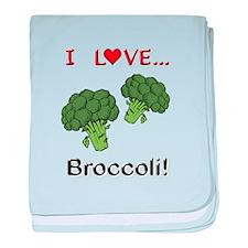 I Love Broccoli baby blanket