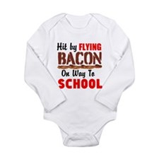Hit By Flying Bacon on way to School Body Suit