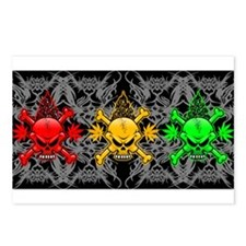 Fire Skull Tribal Tattoos Postcards (Package of 8)