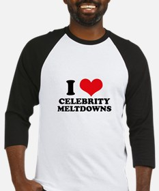 I Love (Heart) Celebrity Melt Baseball Jersey