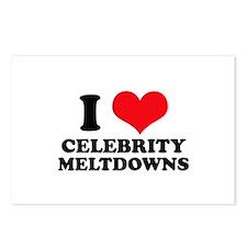 I Love (Heart) Celebrity Melt Postcards (Package o