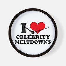 I Love (Heart) Celebrity Melt Wall Clock