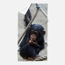 Chimpanzee Baby 003 Beach Towel