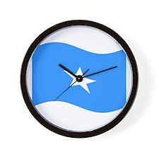 Waving Somalia Flag Wall Clock
