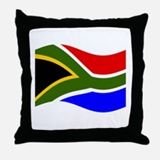 Waving South Africa Flag Throw Pillow
