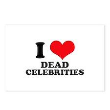 I Love (Heart) Dead Celebriti Postcards (Package o