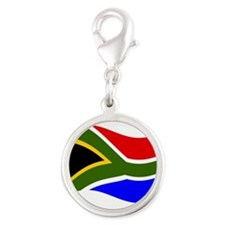 Waving South Africa Flag Charms
