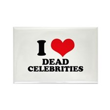 I Love (Heart) Dead Celebriti Rectangle Magnet