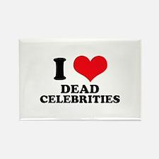 I Love (Heart) Dead Celebriti Rectangle Magnet