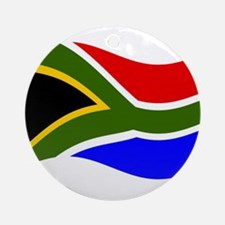 Waving South Africa Flag Ornament (Round)