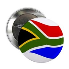 "Waving South Africa Flag 2.25"" Button"
