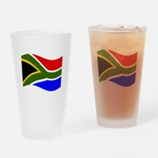 Waving South Africa Flag Drinking Glass